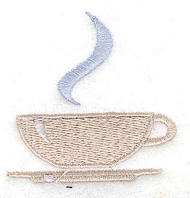 Embroidery Design: Tea cup 2.00w X 2.00h