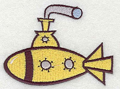 Embroidery Design: Submarine 3.31w X 2.44h