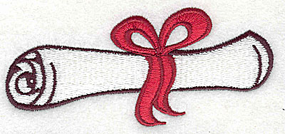Embroidery Design: Diploma 3.94w X 1.75h