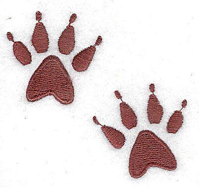 Embroidery Design: Animal paw 2.63w X 2.38h