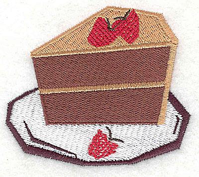 Embroidery Design: Chocolate strawbery cake 2.88w X 2.44h