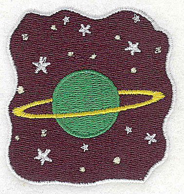 Embroidery Design: Planet and stars 2.31w X 2.44h