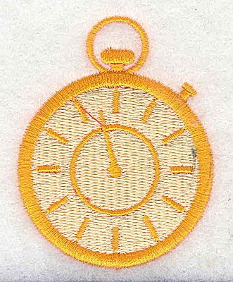 Embroidery Design: Stop watch 1.94w X 2.50h