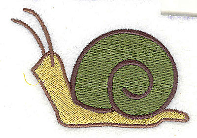 Embroidery Design: Snail 3.06w X 2.06h