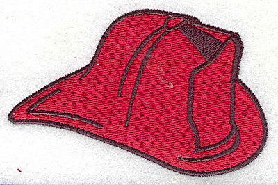 Embroidery Design: Fireman's helmet 3.94w X 2.50h