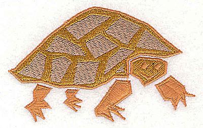 Embroidery Design: Tortoise 3.44w X 2.19h