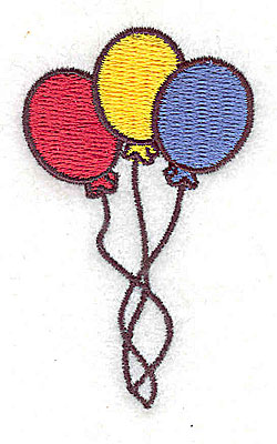 Embroidery Design: Balloons 1.50w X 2.44h