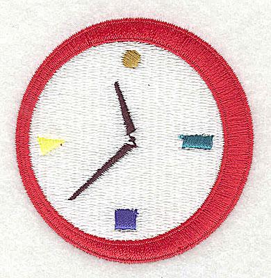 Embroidery Design: Clock 2.38w X 2.44h
