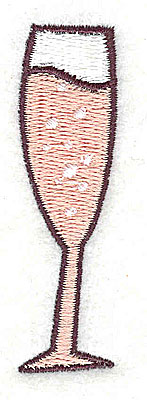 Embroidery Design: Champagne glass 0.69w X 2.44h