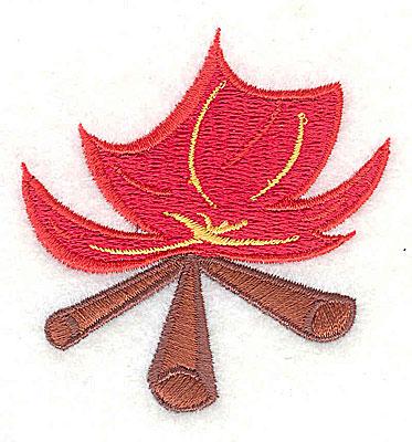 Embroidery Design: Campfire 2.38w X 2.44h