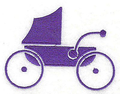 Embroidery Design: Baby Carriage 3.31w X 2.44h
