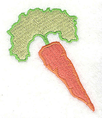 Embroidery Design: Carrot 2.13w X 2.50h