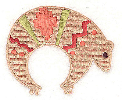 Embroidery Design: Armadillo 2.94w X 2.44h