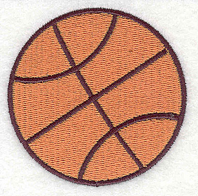 Embroidery Design: Basketball 2.44w X 2.44h