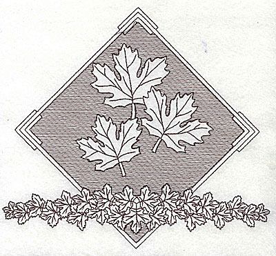 Embroidery Design: Maple leaves 7.81w X 7.00h