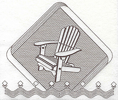 Embroidery Design: Muskoka chair 7.88w X 6.56h