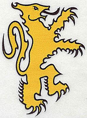Embroidery Design: Lion symbol 5.88w X 8.00h