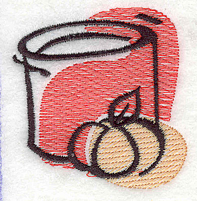 Embroidery Design: Can of pumpkin 2.31w X 2.44h