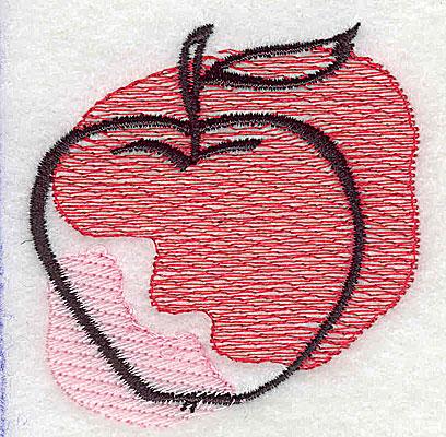 Embroidery Design: Apple 2.31w X 2.38h