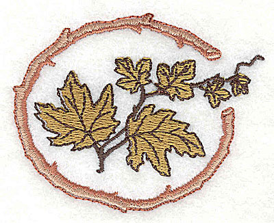 Embroidery Design: Maple leaves 2.81w X 2.25h