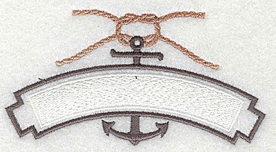 Embroidery Design: Nautical anchor and rope 4.13w X 2.13h