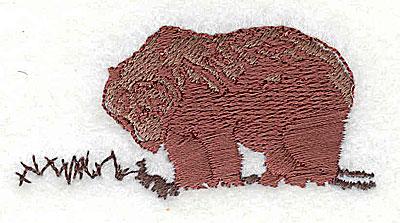 Embroidery Design: Bear 2.44w X 2.19h