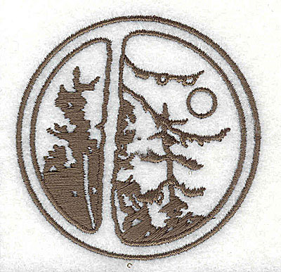 Embroidery Design: Forest scene 2.56w X 2.56h