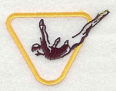 Embroidery Design: Diver 2.56w X 1.88h
