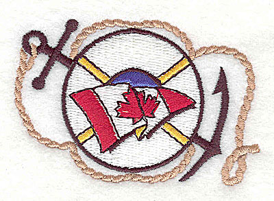 Embroidery Design: Canadian flag with nautical symbol2.75w X 1.81h