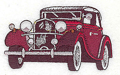 Embroidery Design: Vintage automobile 3.44w X 2.00h