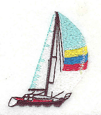 Embroidery Design: Sailboat 1.62w X 2.00h