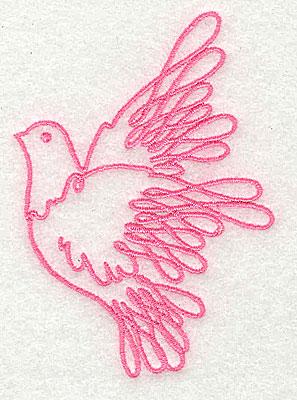 Embroidery Design: Dove 2.31w X 3.25h