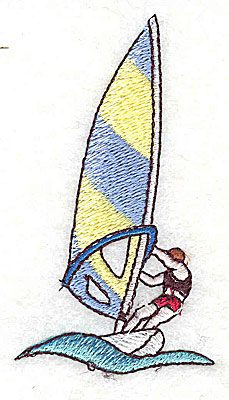 Embroidery Design: Wind Surfer 1.69w X 3.06h