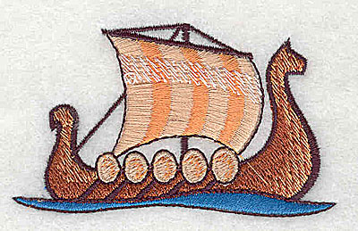 Embroidery Design: Viking Ship 2.94w X 1.75h