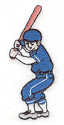 Embroidery Design: Baseball Player 1.13w X 2.88h
