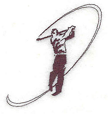 Embroidery Design: Golfer 2.25w X 2.25h