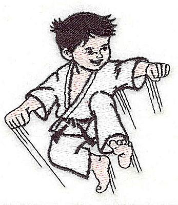 Embroidery Design: Karate kid 2.62w X 1.88h