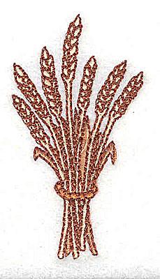 Embroidery Design: Wheat sheaf 1.38w X 2.62h