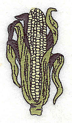Embroidery Design: Ear of corn 1.38w X 2.56h