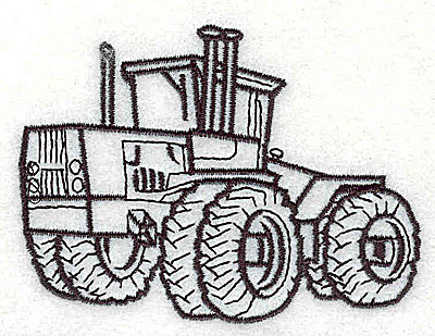 Embroidery Design: Tractor 3.38w X 2.50h