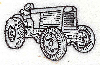 Embroidery Design: Tractor 3.94w X 2.13h