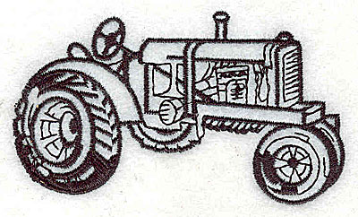 Embroidery Design: Tractor 3.44w X 2.00h