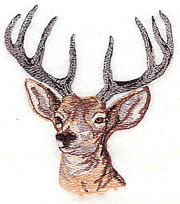 Embroidery Design: Deer head 3.44w X 3.88h