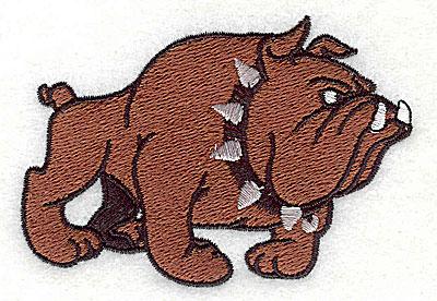 Embroidery Design: Bulldog 3.19w X 2.19h