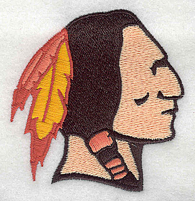 Embroidery Design: Indian head 2.75w X 2.88h