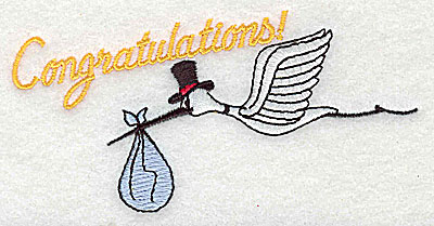 Embroidery Design: Congratulations 4.38w X 2.19h