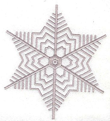 Embroidery Design: Snowflake 3.44w X 3.94h