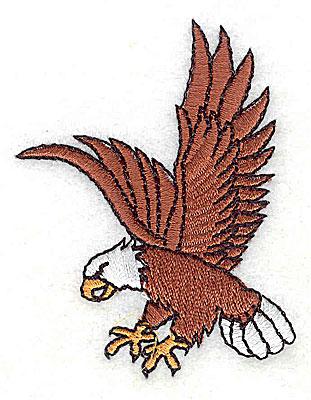 Embroidery Design: Bald Eagle 2.06w X 2.63h