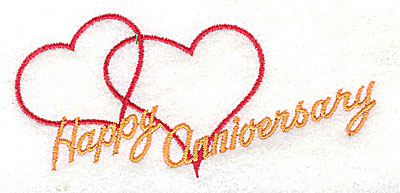 Embroidery Design: Happy Anniversary 4.13w X 1.88h