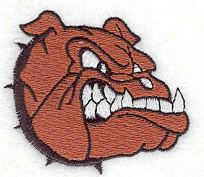 Embroidery Design: Bulldog 2.44w X 2.13h